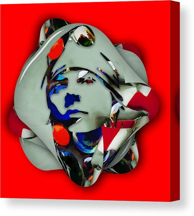 Axl Rose Canvas Print featuring the mixed media Axl Rose Rock and Roll by Marvin Blaine