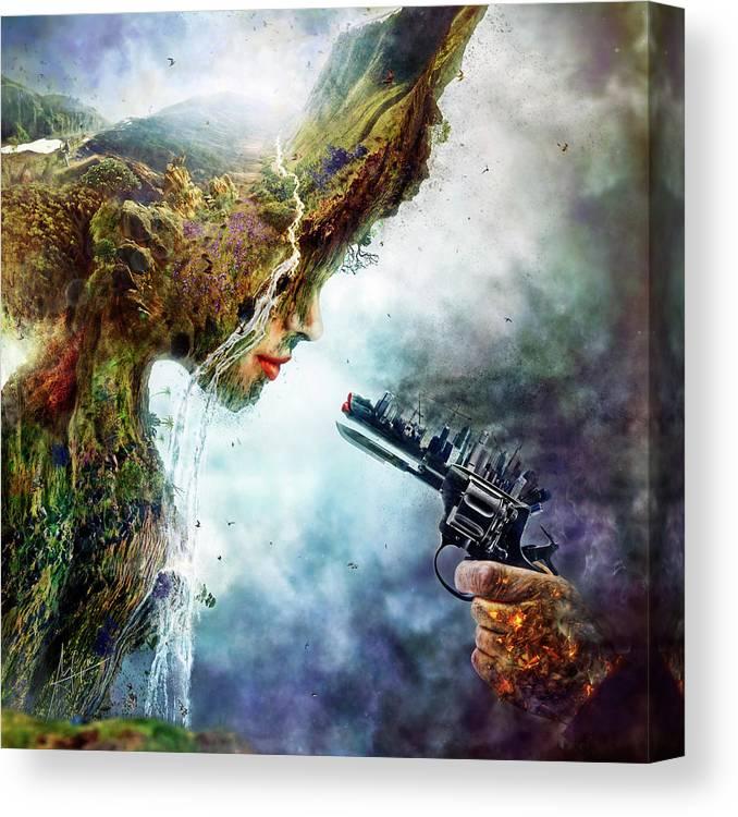 Betrayal Canvas Print featuring the digital art Betrayal by Mario Sanchez Nevado