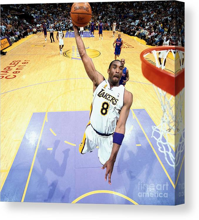 Nba Pro Basketball Canvas Print featuring the photograph Chauncey Billups and Kobe Bryant by Nathaniel S. Butler