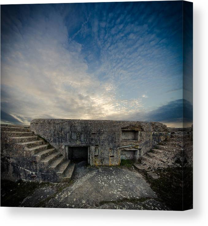 Tranquility Canvas Print featuring the photograph Concrete Defence by s0ulsurfing - Jason Swain