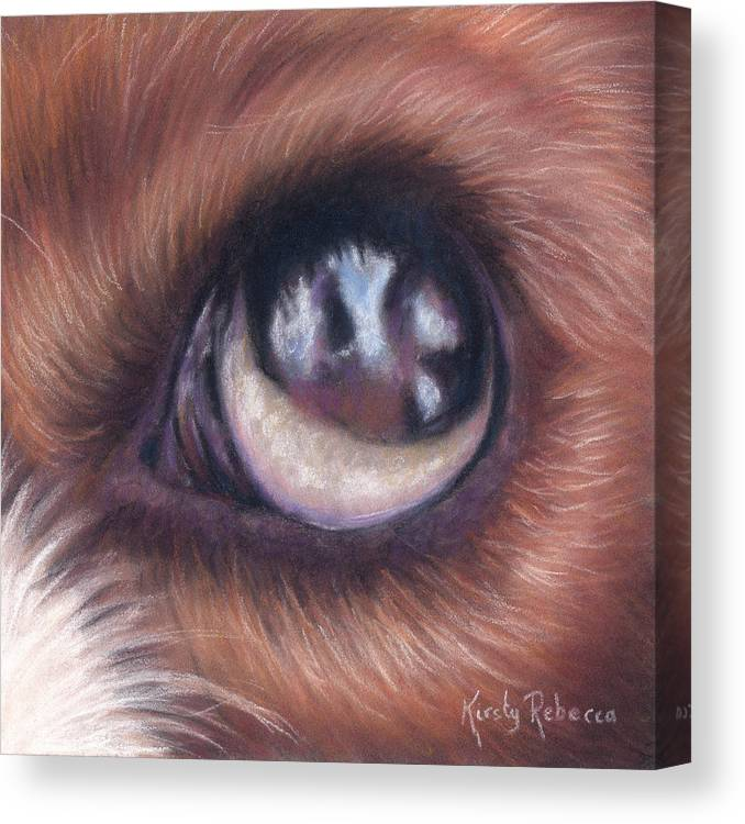 Canvas Print featuring the pastel Dog Eye Study by Kirsty Rebecca