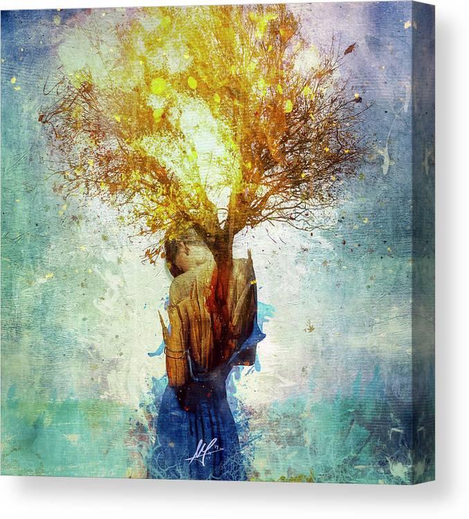 Surreal Canvas Print featuring the digital art Forgiveness by Mario Sanchez Nevado