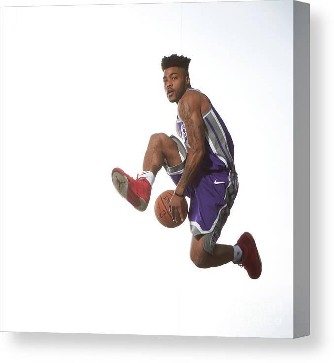 Nba Pro Basketball Canvas Print featuring the photograph Frank Mason by Nathaniel S. Butler