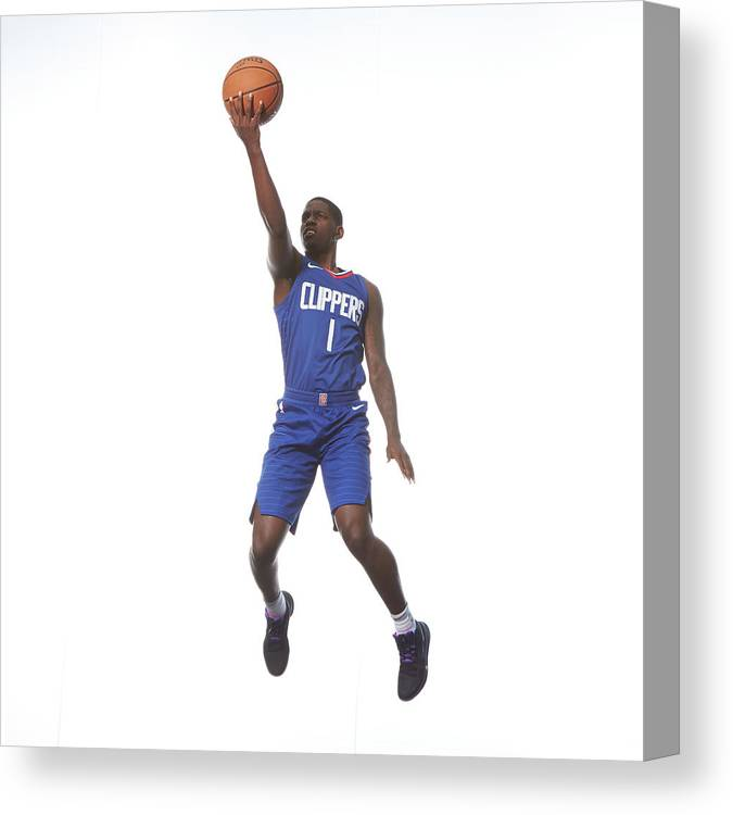 Nba Pro Basketball Canvas Print featuring the photograph Jawun Evans by Nathaniel S. Butler