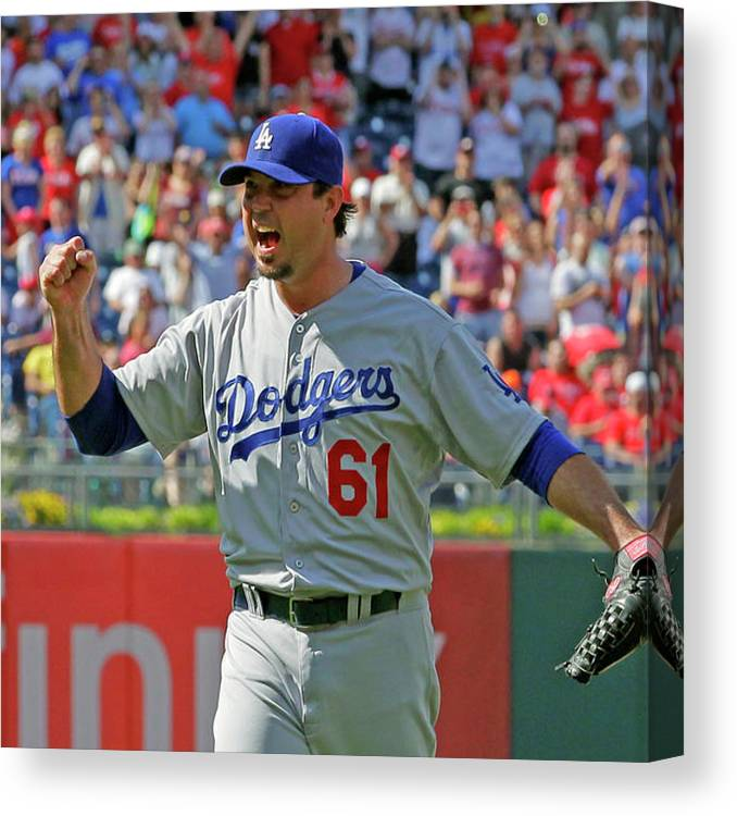 Ninth Inning Canvas Print featuring the photograph Josh Beckett by Hunter Martin