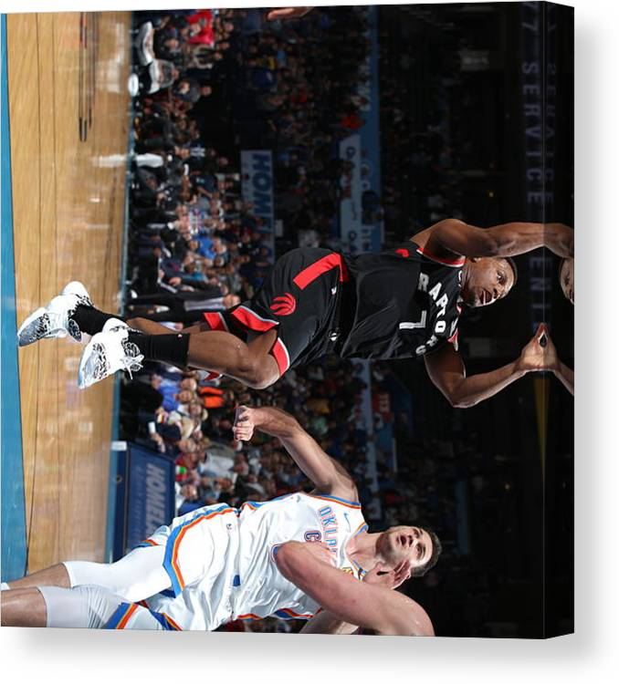 Nba Pro Basketball Canvas Print featuring the photograph Kyle Lowry by Zach Beeker