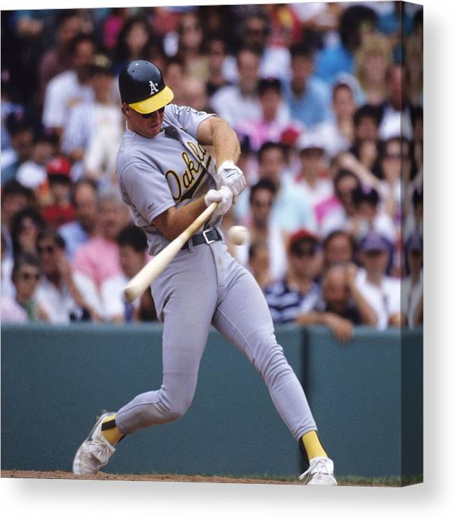 National League Baseball Canvas Print featuring the photograph Mark Mcgwire by Ronald C. Modra/sports Imagery