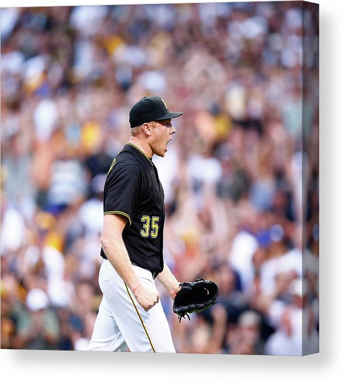 Following Canvas Print featuring the photograph Mark Melancon by Jared Wickerham