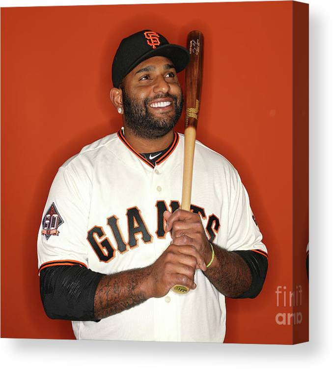 Media Day Canvas Print featuring the photograph Pablo Sandoval by Patrick Smith