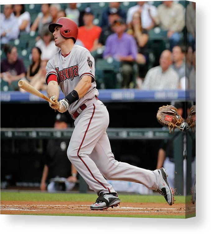 People Canvas Print featuring the photograph Paul Goldschmidt by Doug Pensinger