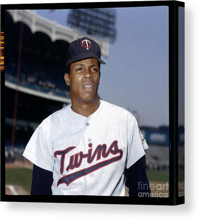 American League Baseball Canvas Print featuring the photograph Rod Carew by Louis Requena