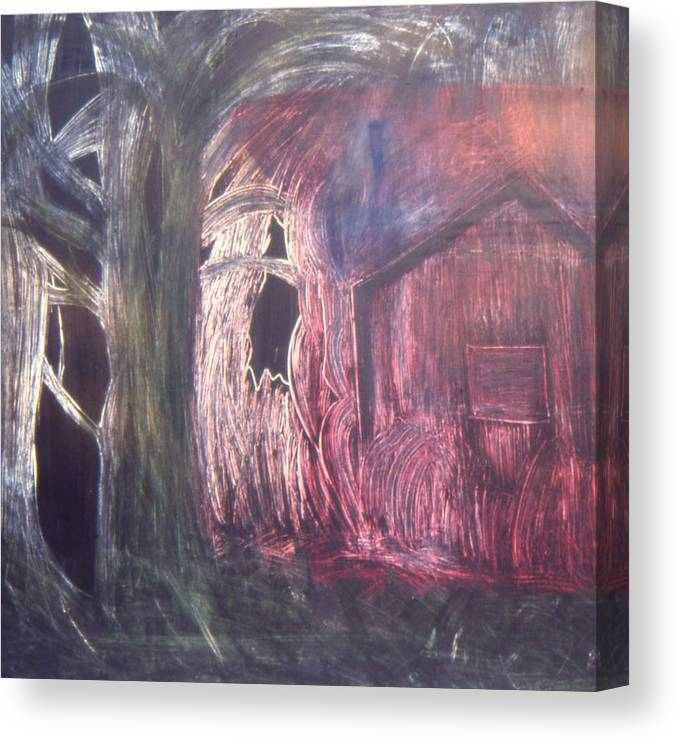 Landscape Canvas Print featuring the painting The opening by Ingrid Torjesen