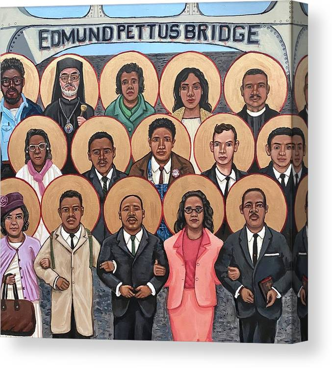 Canvas Print featuring the painting The Saints of Selma by Kelly Latimore