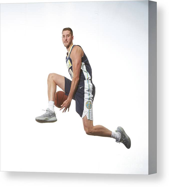 Nba Pro Basketball Canvas Print featuring the photograph T.j. Leaf by Nathaniel S. Butler