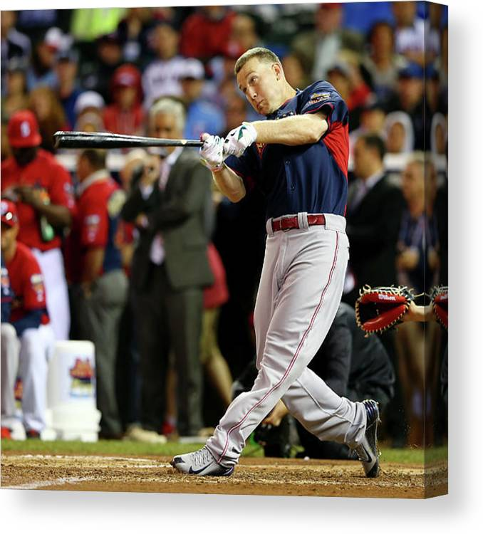 American League Baseball Canvas Print featuring the photograph Todd Frazier by Elsa