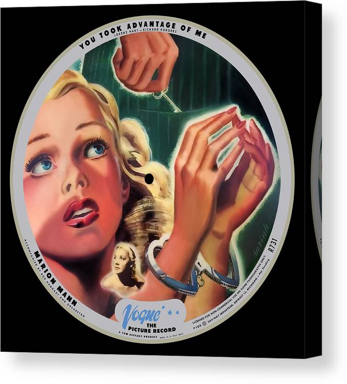 Vogue Picture Record Canvas Print featuring the digital art Vogue Record Art - R 731 - P 105 - Square Version by John Robert Beck
