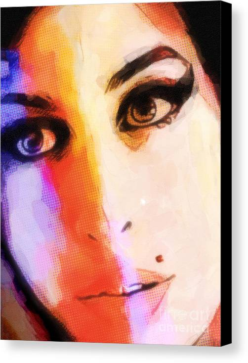 Amy Winehouse Art Canvas Print featuring the painting Amy Pop-art by Lutz Baar