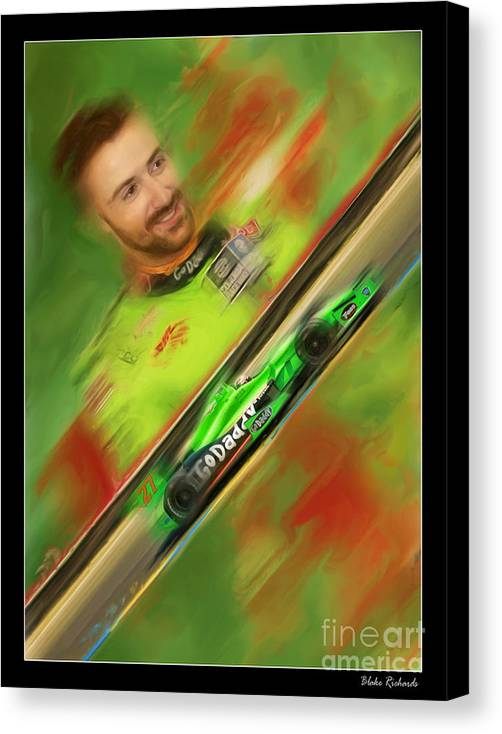 James Hinchcliffe Canvas Print featuring the photograph James Hinchcliffe by Blake Richards