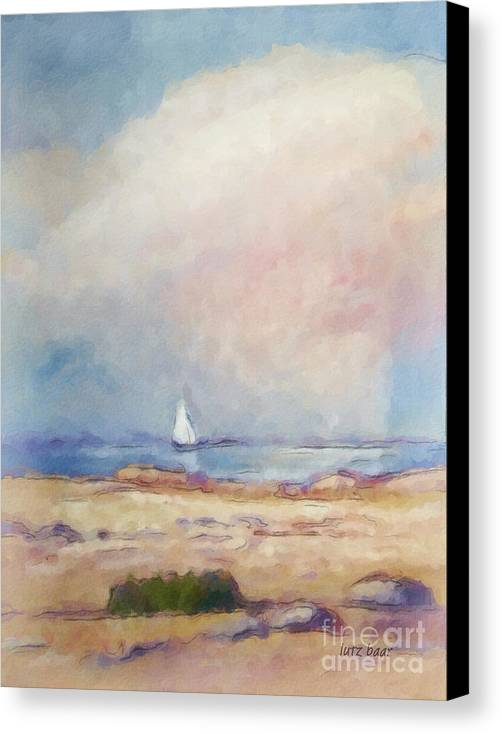 Coast Impression Canvas Print featuring the painting Light At The Coast by Lutz Baar