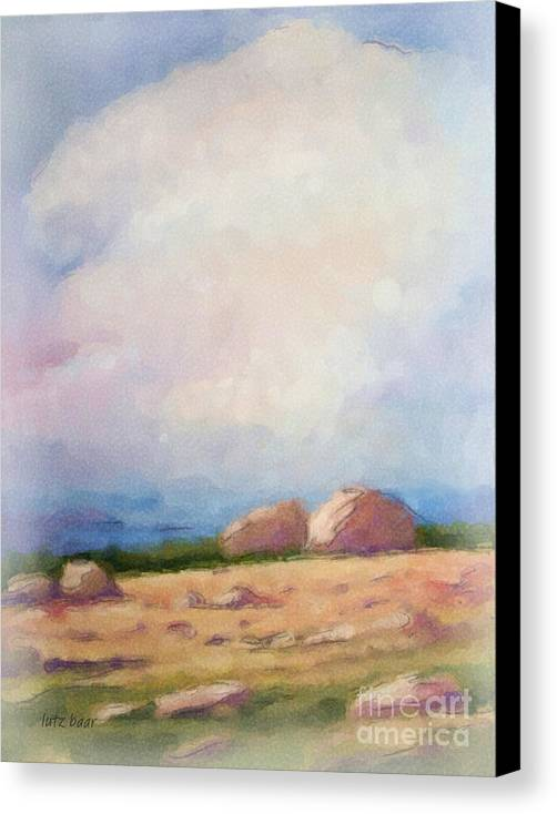 Impressionism Canvas Print featuring the painting Stony Coast by Lutz Baar