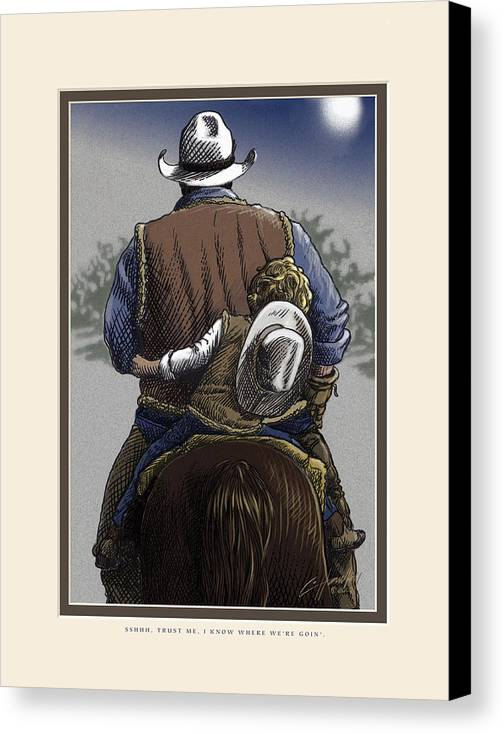 Inspirational Canvas Print featuring the painting Wejesgotstatrust by Cliff Hawley