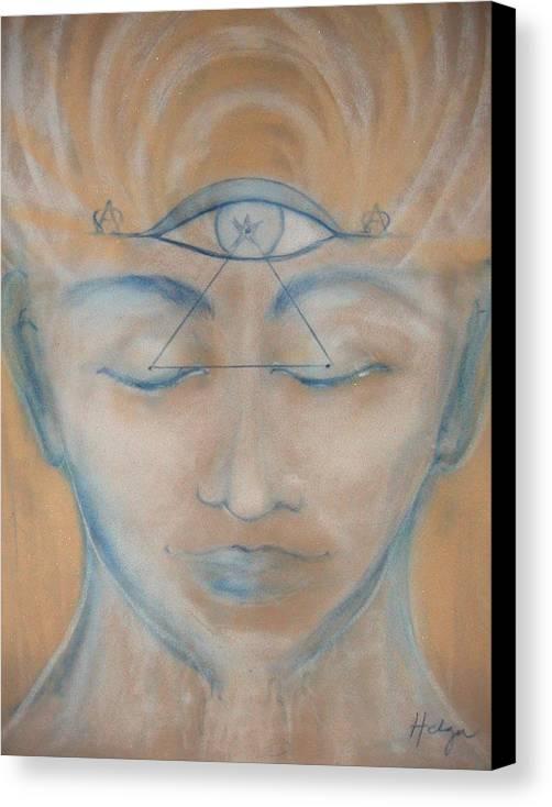 Alpha Canvas Print featuring the painting Intuition by Helga Sigurdardottir