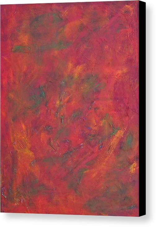 Abstract Canvas Print featuring the painting Autum Leafs by Marcia Paige