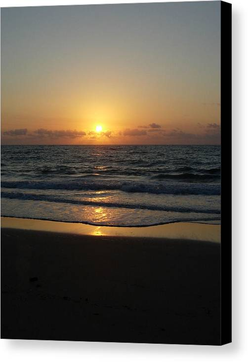 Sunrise Canvas Print featuring the photograph Early Sunrise Atlantic Ocean by Stephanie H Johnson