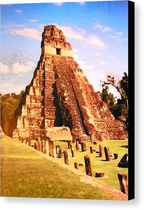 Great Jaguar Temple Canvas Print featuring the photograph Great Jaguar Temple by Mark Cheney