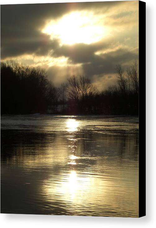 Water Canvas Print featuring the photograph Reflections by Robert Collier