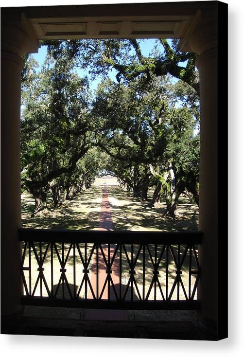 Canvas Print featuring the photograph The Past by Karla Kernz