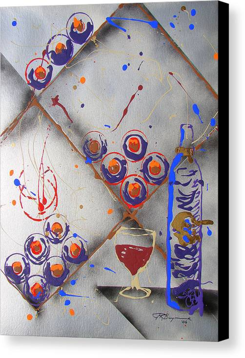 Wine Canvas Print featuring the painting Wine Connoisseur by J R Seymour