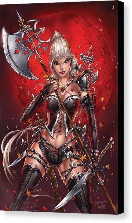 Comics Jamie Tyndall Zenescope Artist SIGNED Comic Art Print ~ Alice