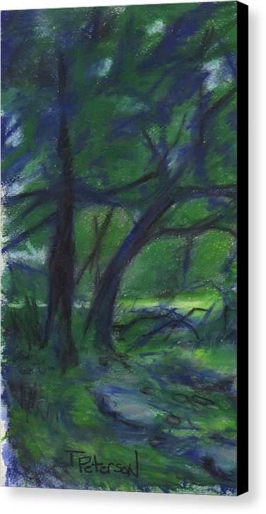Landscape Canvas Print featuring the painting Cape Cod Tranquility by Todd Peterson