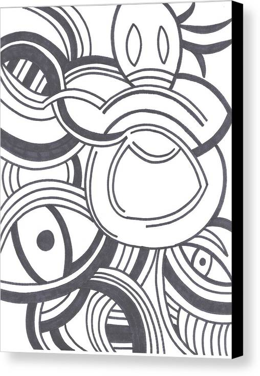 Voodoo Canvas Print featuring the drawing Voodoo by Melissa Dorrell