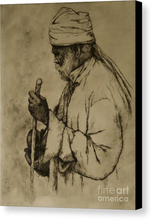 Goa Canvas Print featuring the print Pilgrim by Tim Thorpe