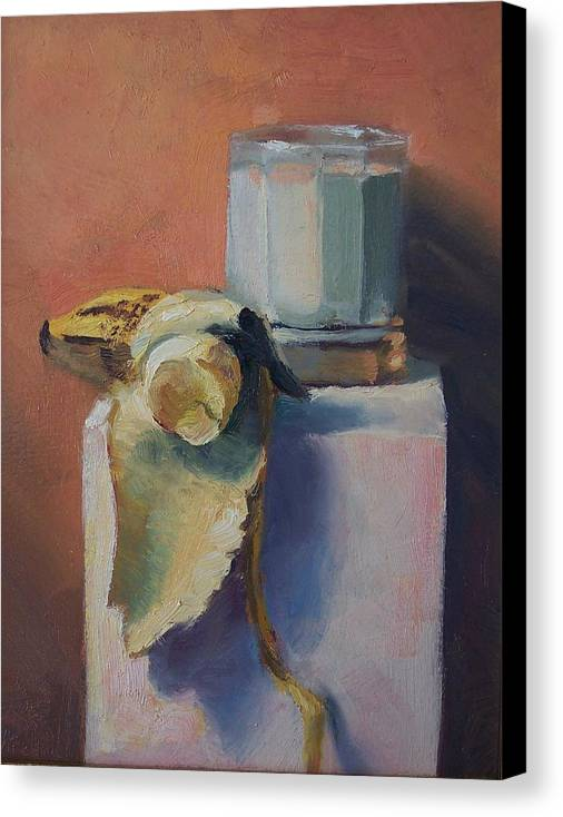 Oil On Masonite Canvas Print featuring the painting Snack Time by Michael Vires
