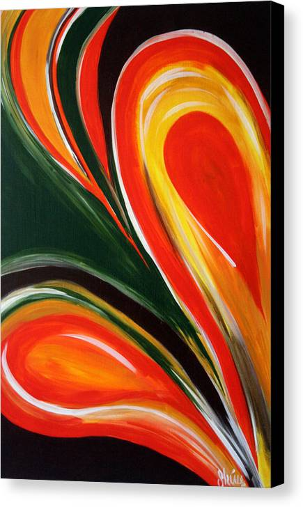 Abstract Paintings Canvas Print featuring the painting Earthly Desire by Shiree Gilmore