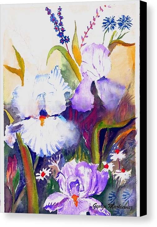 Flowers Canvas Print featuring the print Iris by George Markiewicz
