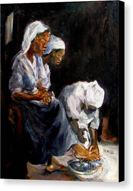 Washing Feet Canvas Print featuring the painting Humble Hands by Patrick Mills