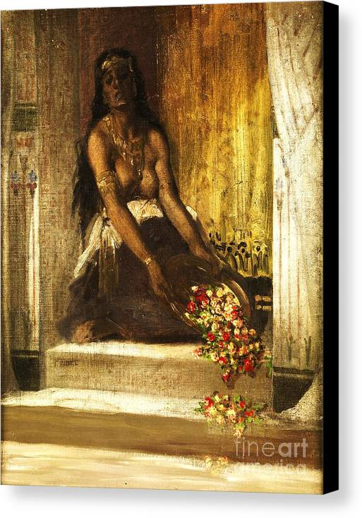 Pd Canvas Print featuring the painting Haremsdame by Pg Reproductions