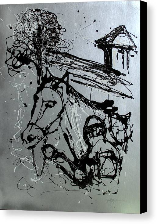 Race Horse Canvas Print featuring the painting Race Day by J R Seymour