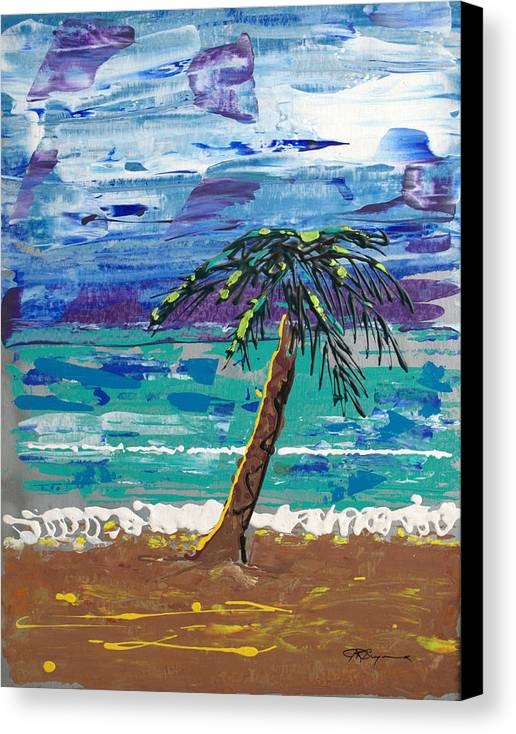 Palm Tree Canvas Print featuring the painting Palm Beach by J R Seymour