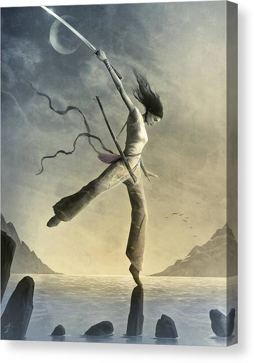 Zen Canvas Print featuring the painting Dreamfall by Jason Engle