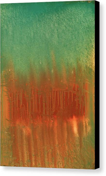 Orange Canvas Print featuring the painting Offering by Jigme Namgyel