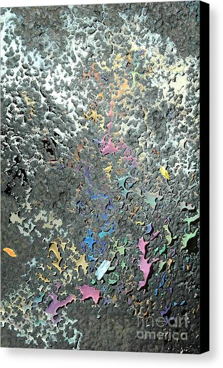 Abstract Canvas Print featuring the photograph Oil Painting by Trish Hale