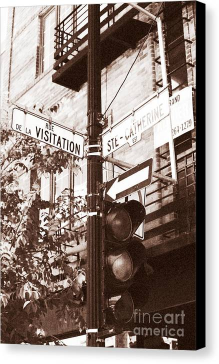 Montreal Canvas Print featuring the photograph Rue Visitation by John Rizzuto