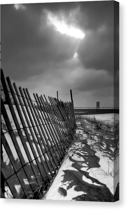 2x3 Canvas Print featuring the photograph Snow Fence by At Lands End Photography