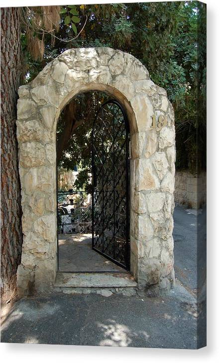 Gate Canvas Print featuring the photograph Gate In Rehavia I by Susan Heller
