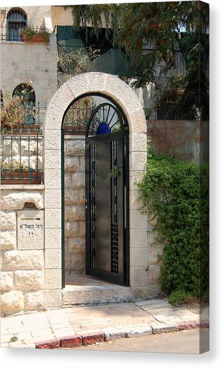 Israel Canvas Print featuring the photograph Gate In Rehavia II by Susan Heller